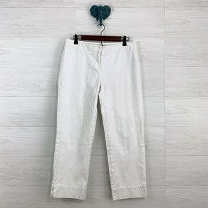 Cabi Jeans White Denim Cropped Capri Pant